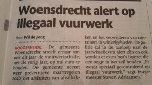 krantenartikel BN-deStem illegaal vuurwerk woensdrecht
