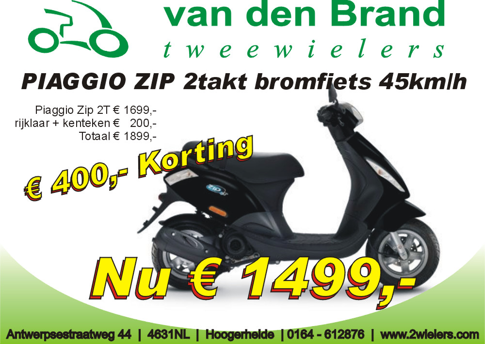 Piaggio zip 2takt aanbieding euro 2