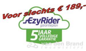 Ezyrider 5 jaar garantie 189 euro